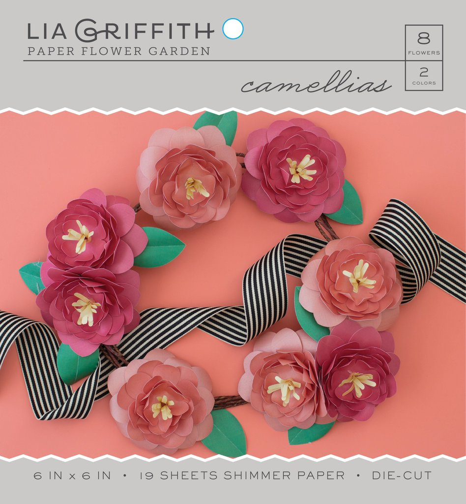 Camellia Frosted Paper Flower Kit Lia Griffith
