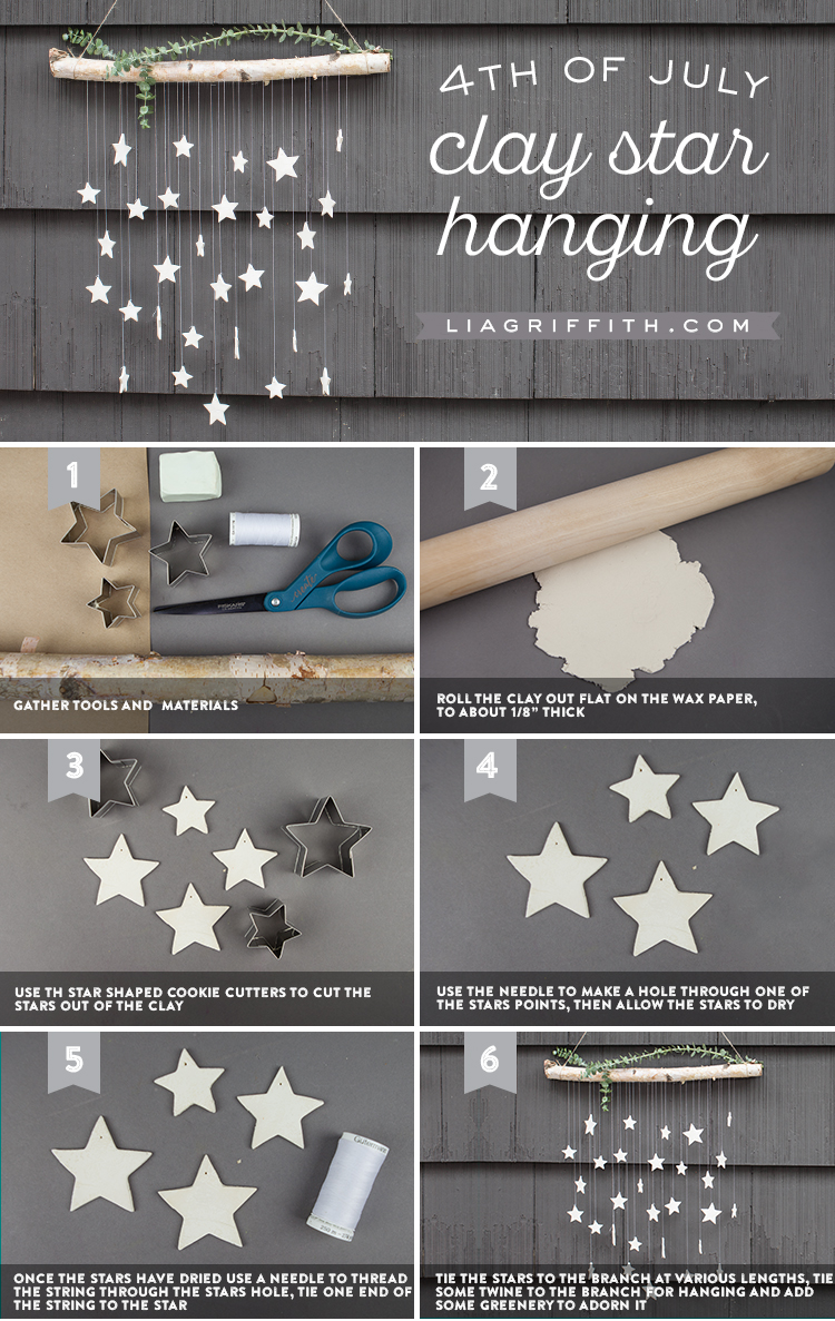 Clay Star Hanging DIY Wall Decor Infographic