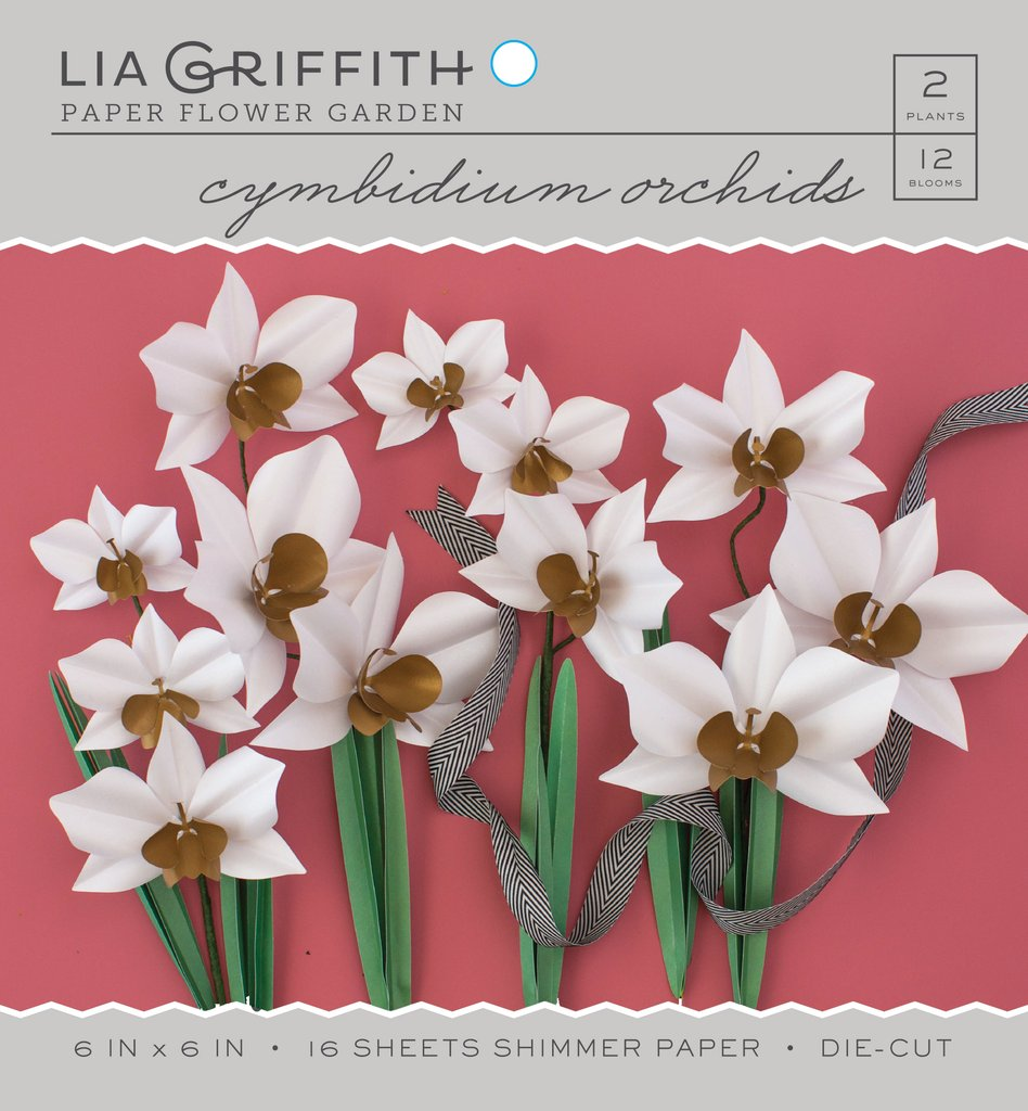 Cymbidium Orchid Frosted Paper Flower Kit - Lia Griffith