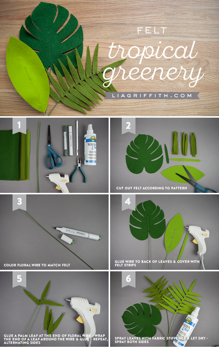 Felt Tropical Leaves & Greenery Photo Tutorial