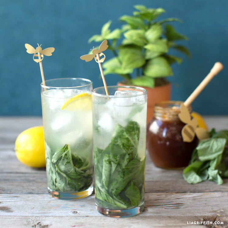 Honey Basil Collins Cocktail Recipe