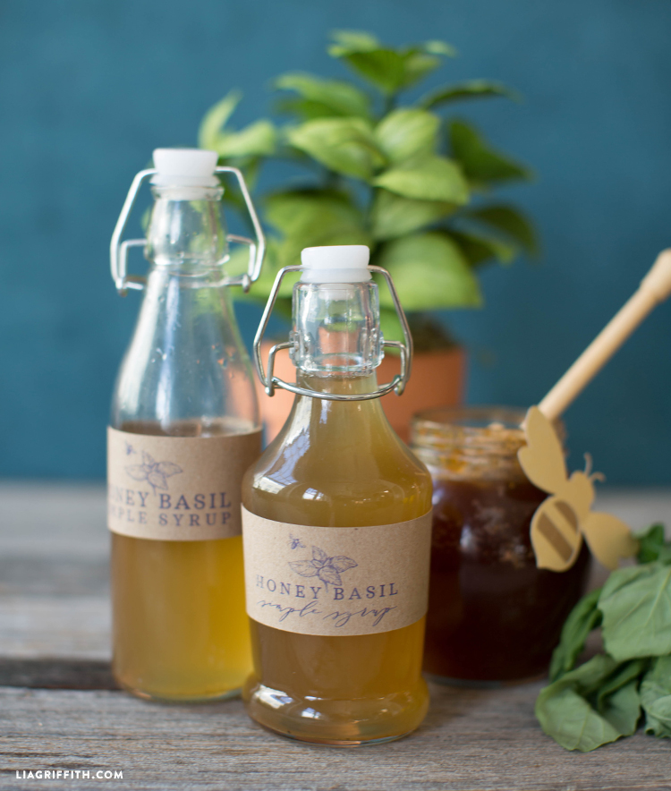 Honey Basil Syrup