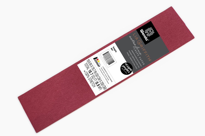 Extra Fine Crepe Paper - Sangria - Lia Griffith