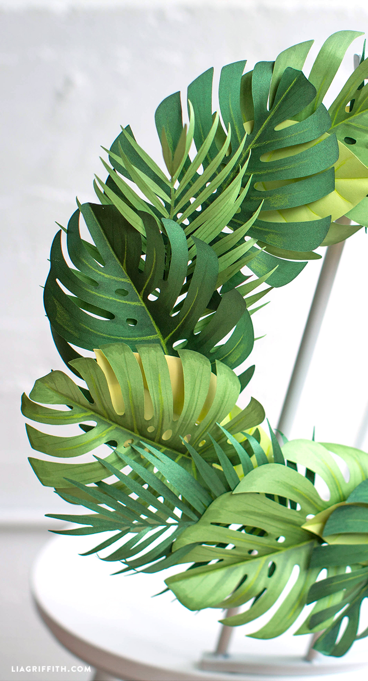 Paper Monstera Leaf