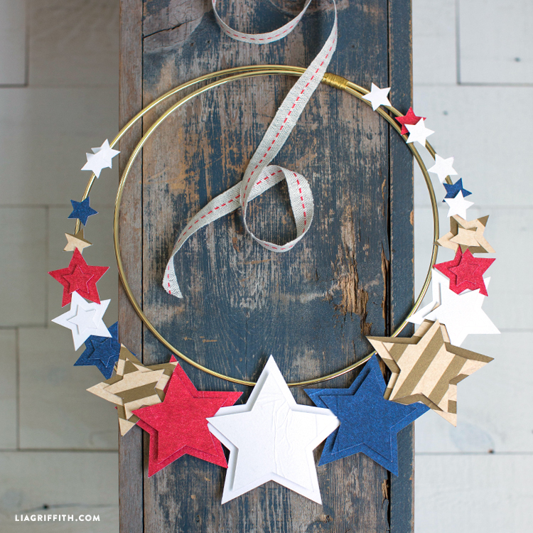 DIY star wreath for 4th of July