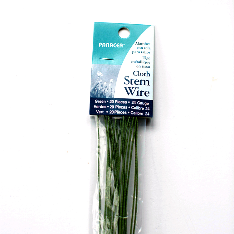 Cloth Covered Stem Wire 24 Gauge Green - Lia Griffith