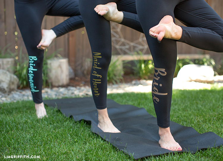 leggings iron-on bridal party gifts