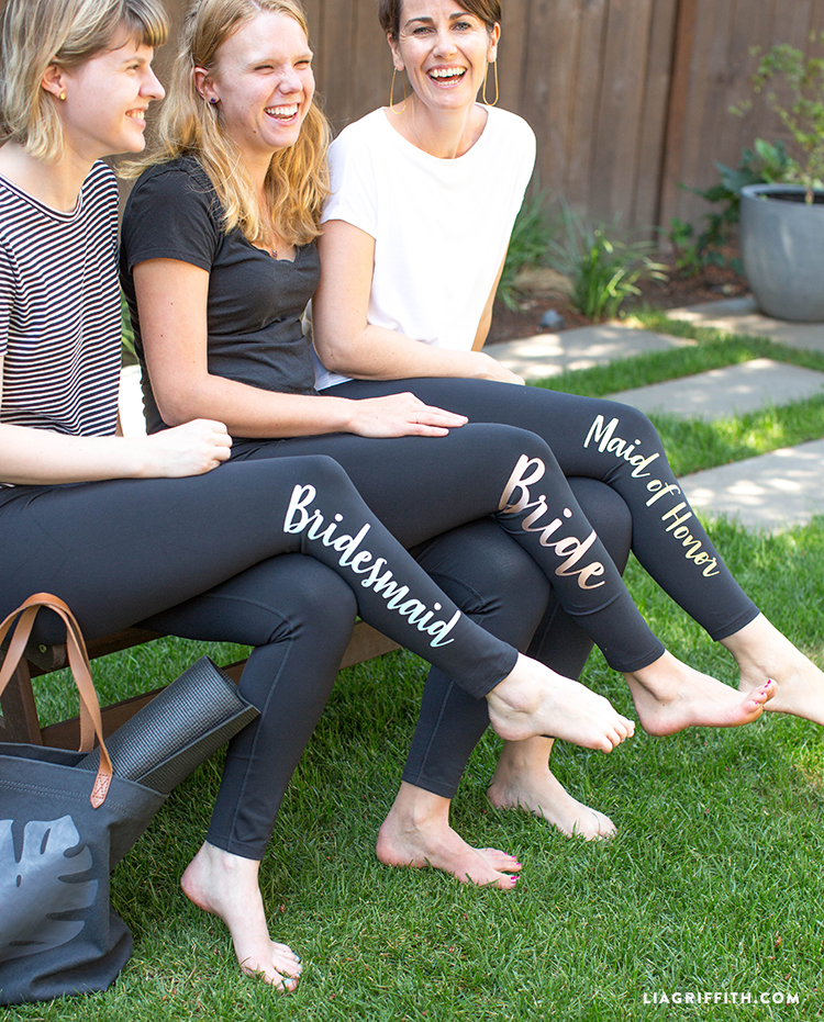 bridal party gifts iron-on diy leggings