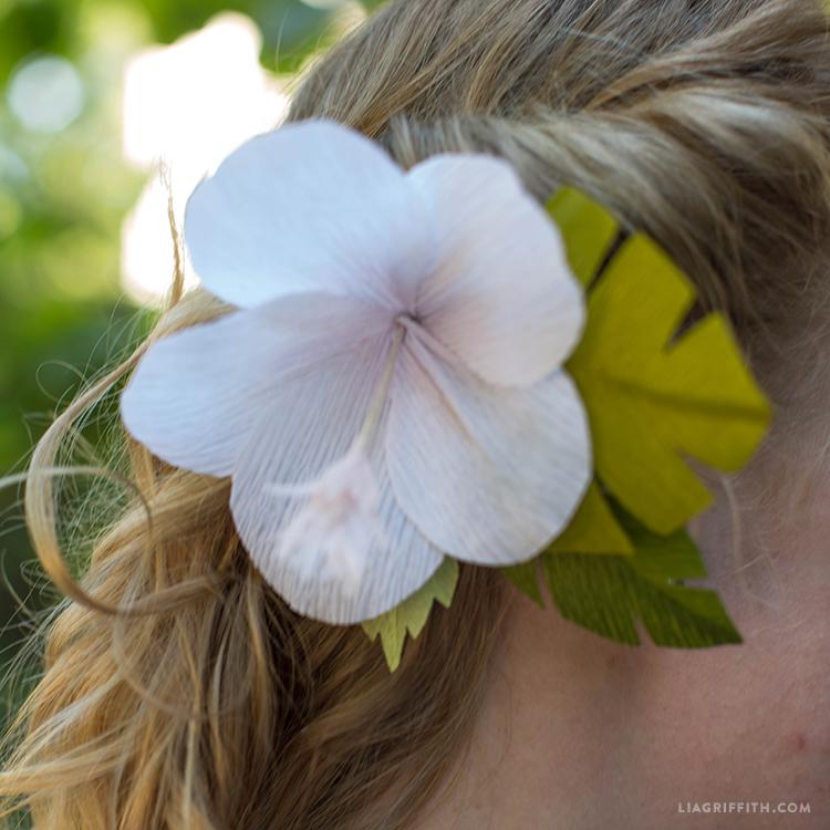 crepe hibiscus lei