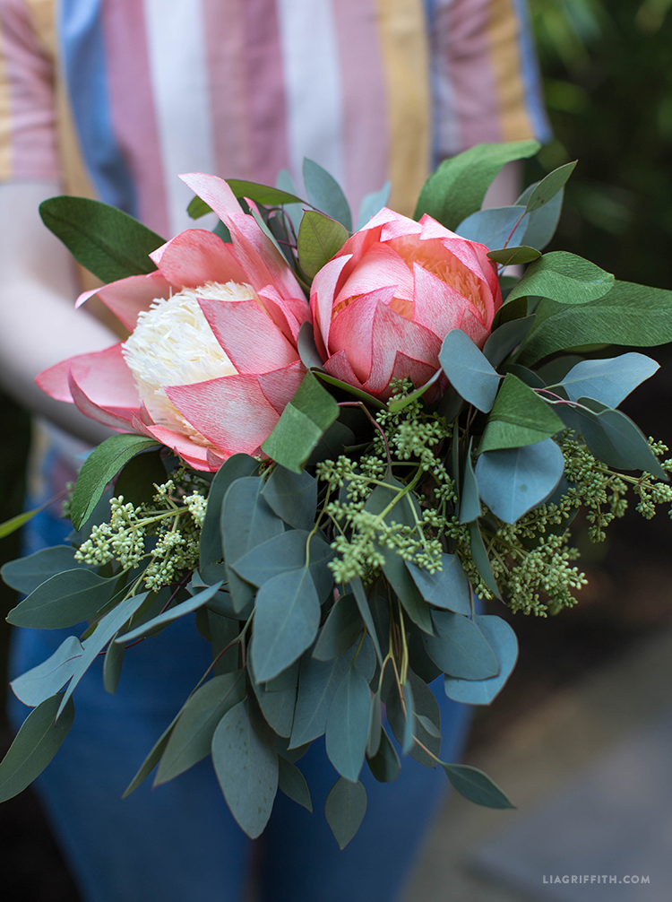 crepe protea flower