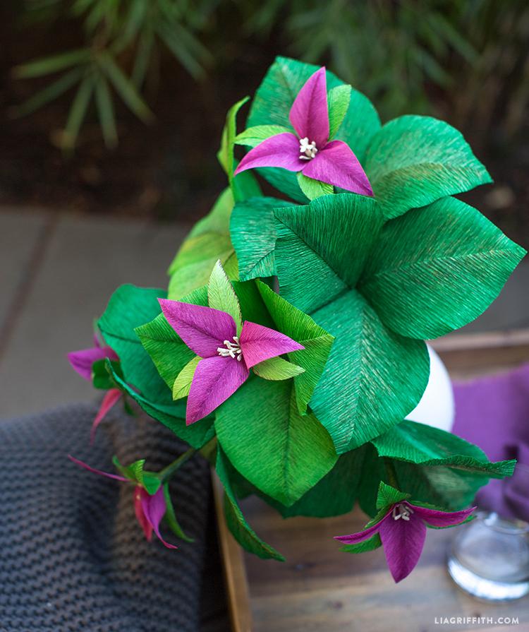 Trillium Flower Crepe Paper