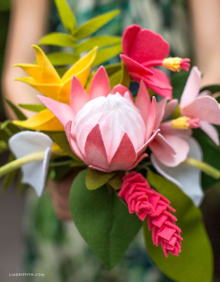 Felt Bouquet Tropical Flowers