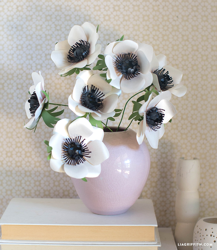 anemone frosted paper