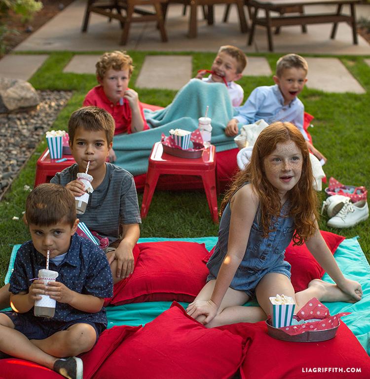 Kids Outdoor Movie Night Popcorn