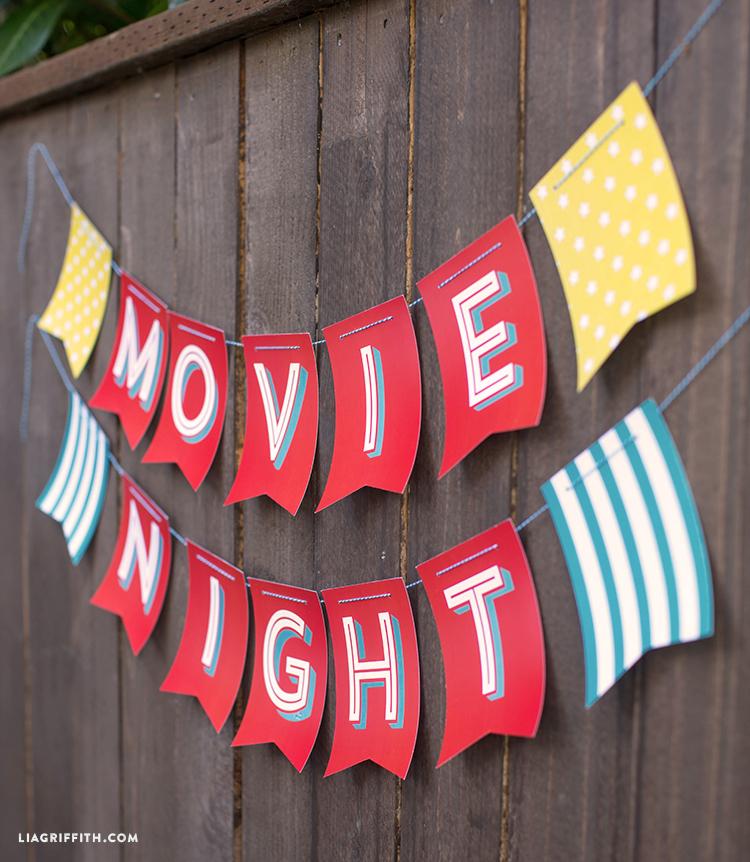 Outdoor Movie Night Printables