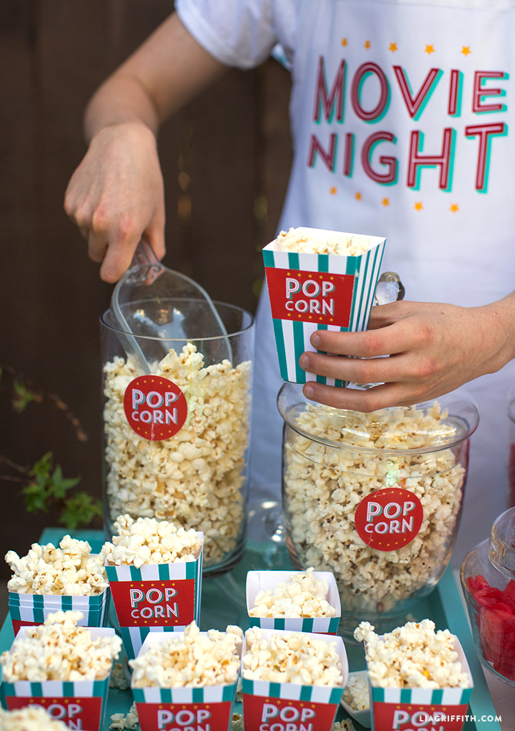 DIY Popcorn Boxes
