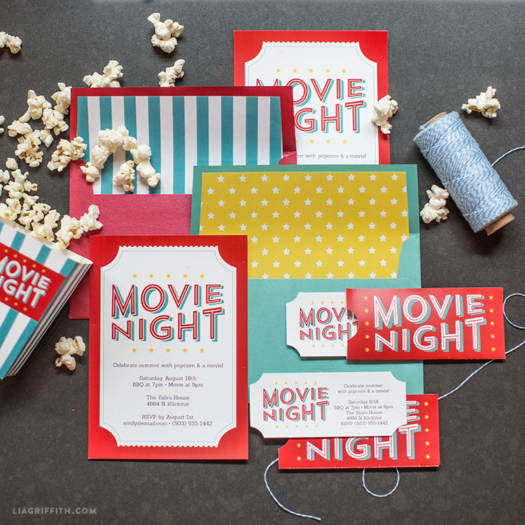 picture about Movie Night Invitations Free Printable called Absolutely free Printable Invites for Your Upcoming Outside Video clip Evening!