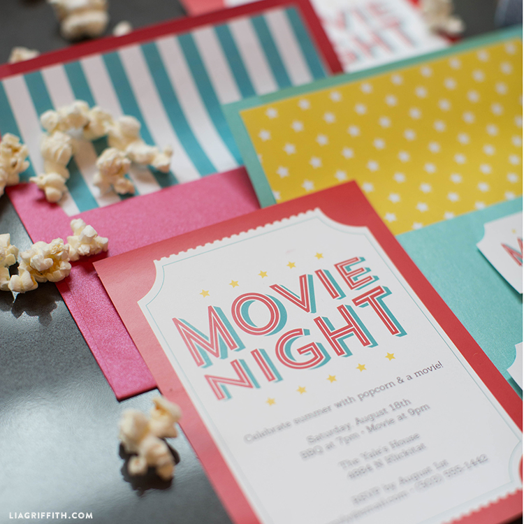 Free Printable Invitations For Your Next Outdoor Movie Night