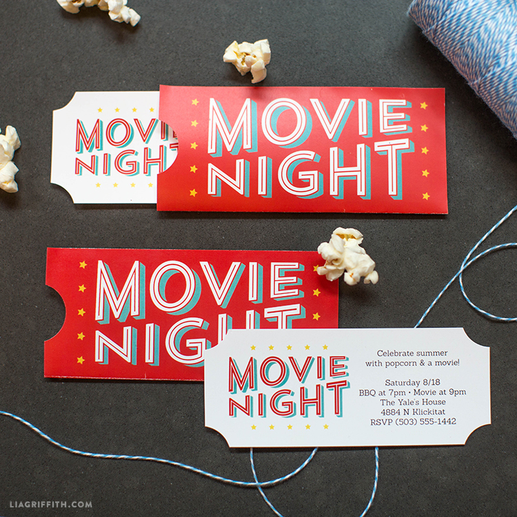 DIY Movie Night Invitations