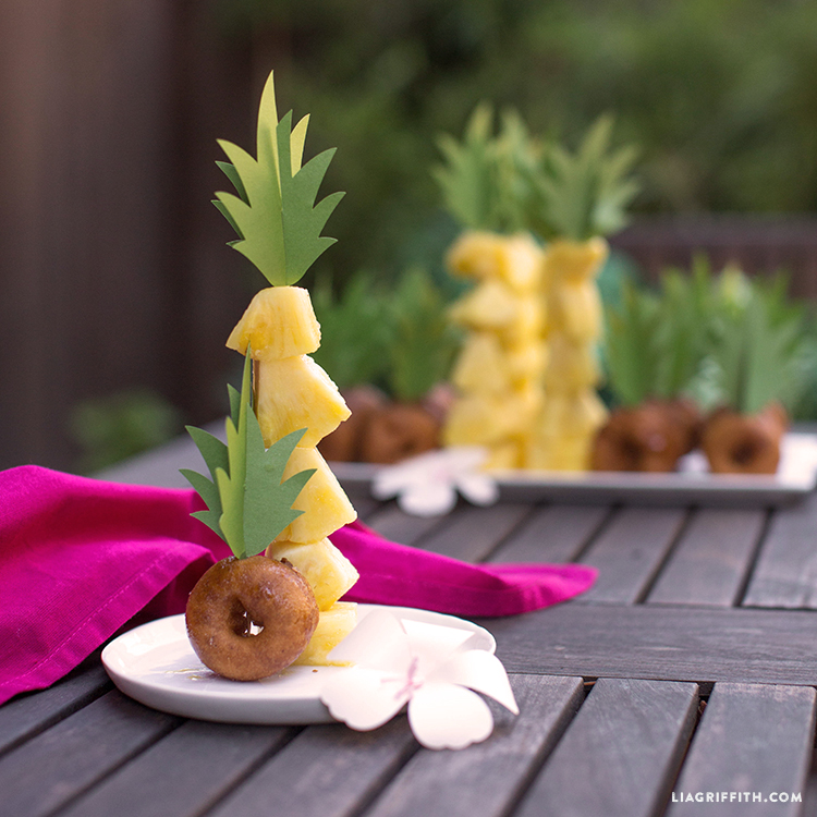 Pineapple Donut Toppers