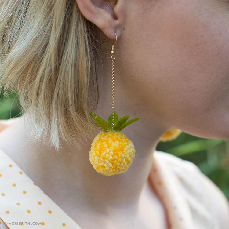 diy pineapple earrings