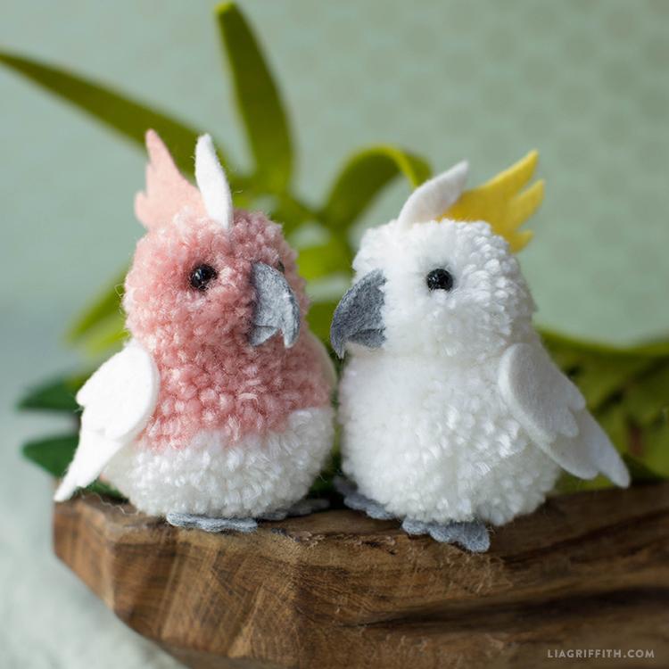 Pom-Pom & Felt Cockatoos