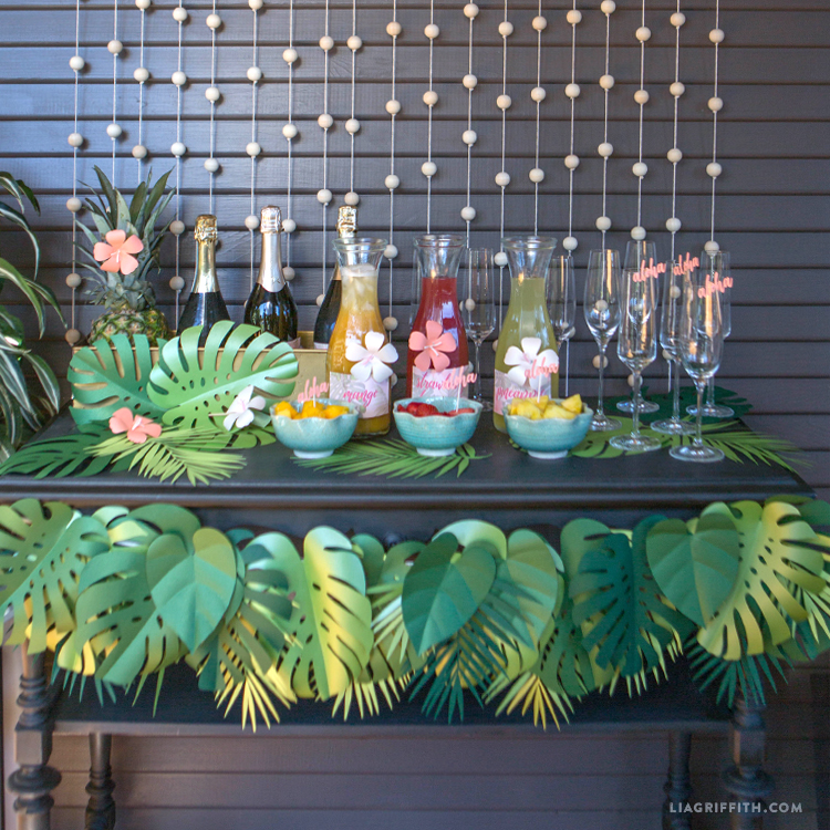 Tropical Paper Leaf Garland