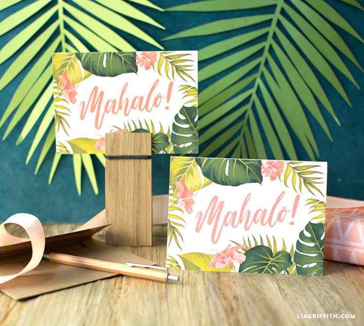 Tropical Printable Thank You Cards