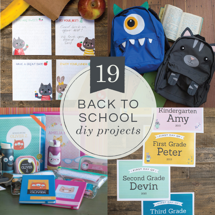 19 Back-to-School DIY Projects Your Kids Will Love - Lia Griffith bed7f680a7a78
