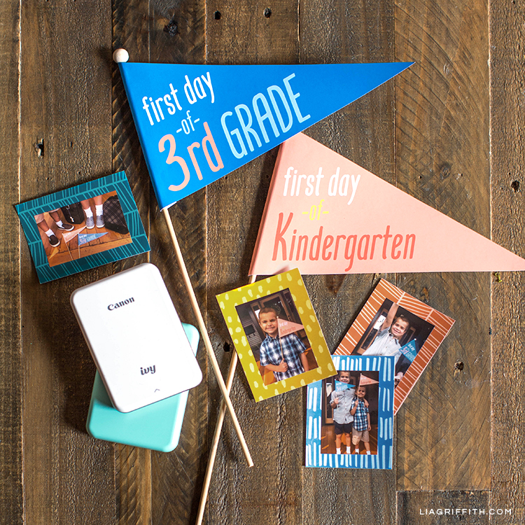 Back-to-School Pennant Flags + Canon IVY Mini Photo Printer