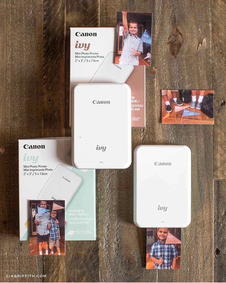 Canon IVY Mini Photo Printers in mint green and rose gold