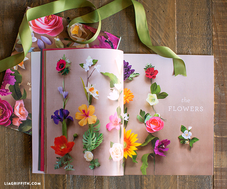 "The ""flowers"" section in Crepe Paper Flowers book"