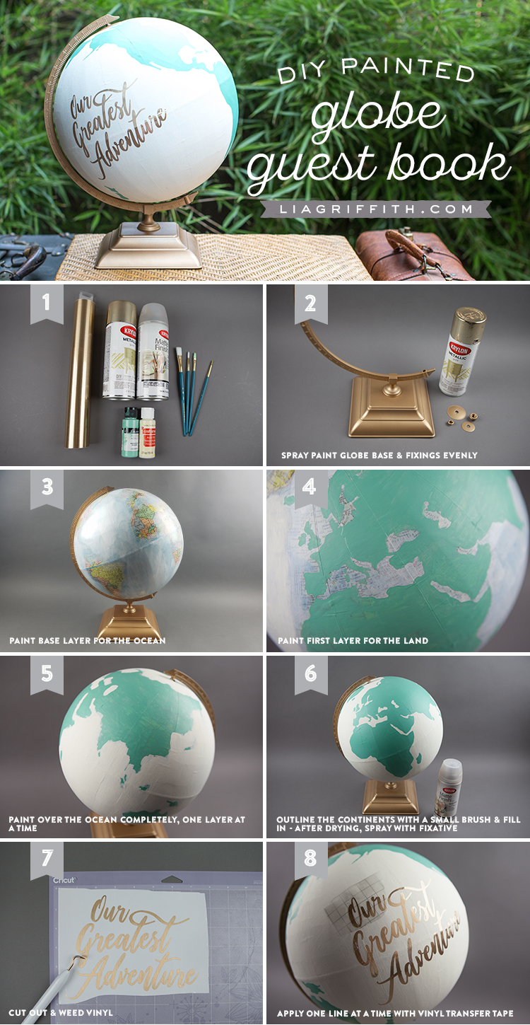 Tutorial for making a DIY globe guest book