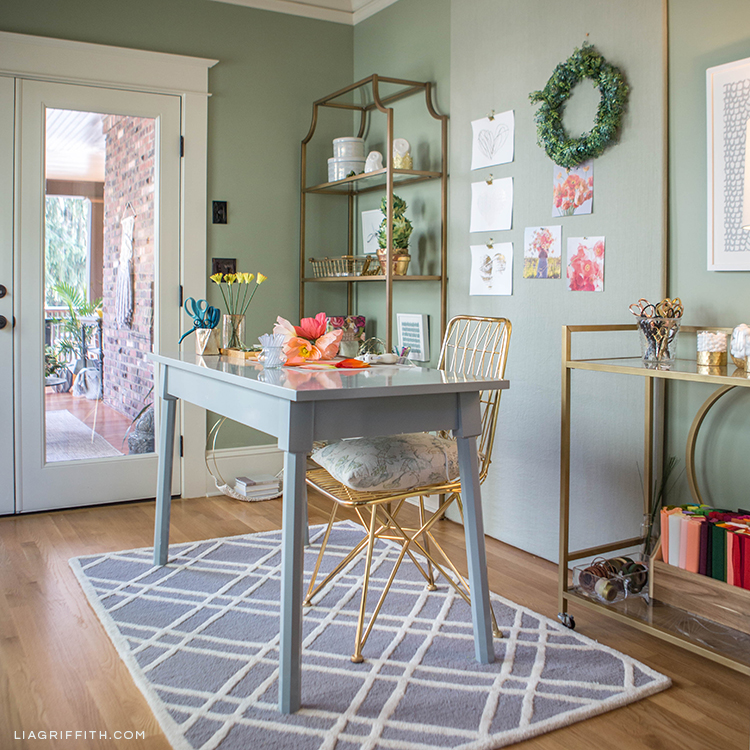 How To Design A Creative Workspace With Hayneedle Lia Griffith Inspiration How To Design A Home Office