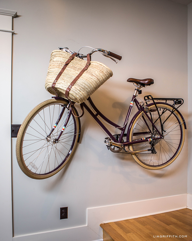 Lia Griffith's bike on bike sticks from Loma Living