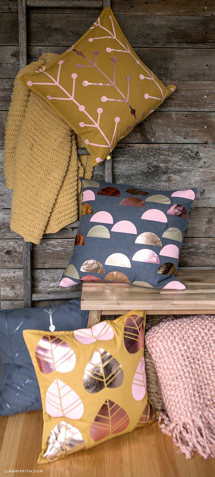Scandinavian style outdoor pillows