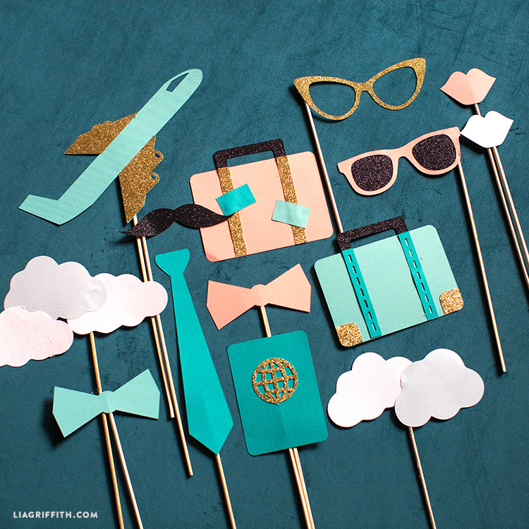 Diy Travel Theme Easy Papercut Photo Booth Props
