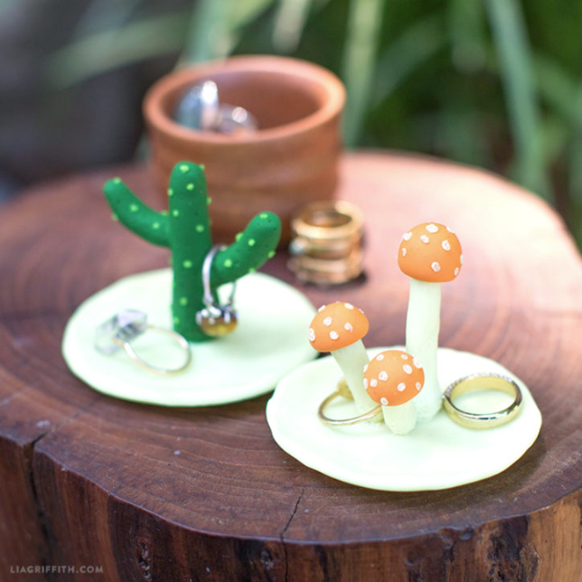 diy cactus ring holder