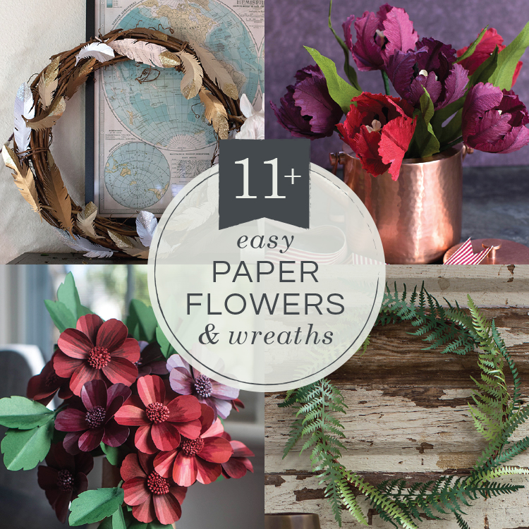 11 Easy Diy Paper Flowers And Wreaths Lia Griffith