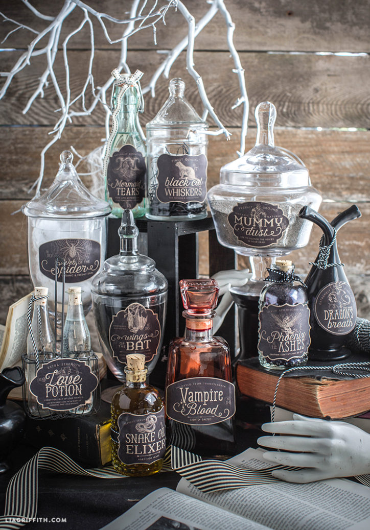 Halloween Party Apothecary Labels