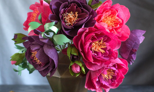 how to make crepe paper peonies for fall