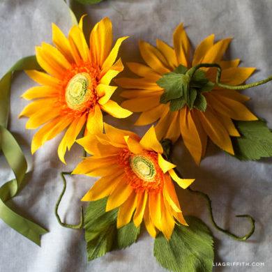 Sunflowers for October Member Make Challenge