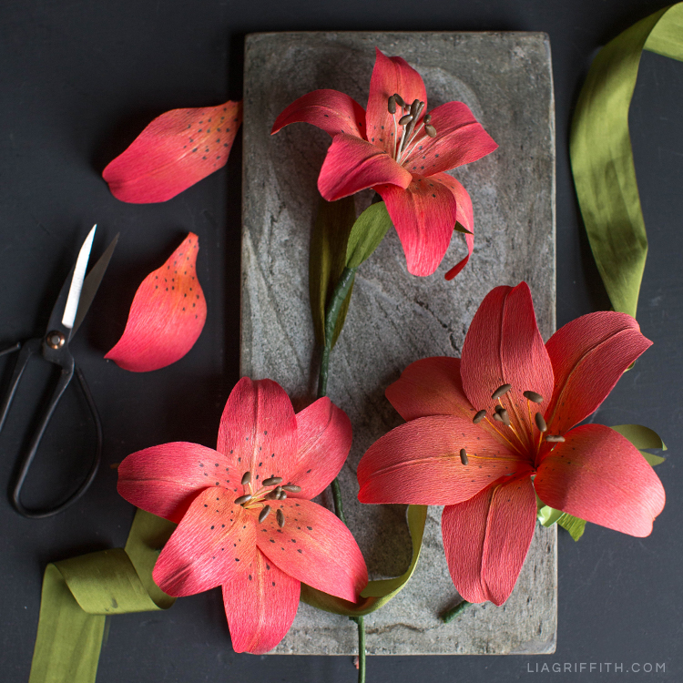 c3814a43bc Make This Stunning Crepe Paper Tiger Lily - Lia Griffith