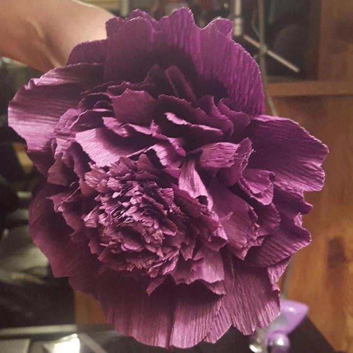 diy purple peony