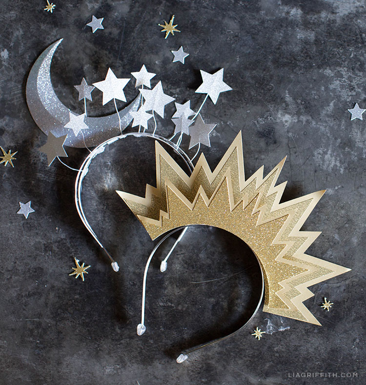 DIY sun and moon headbands for Halloween