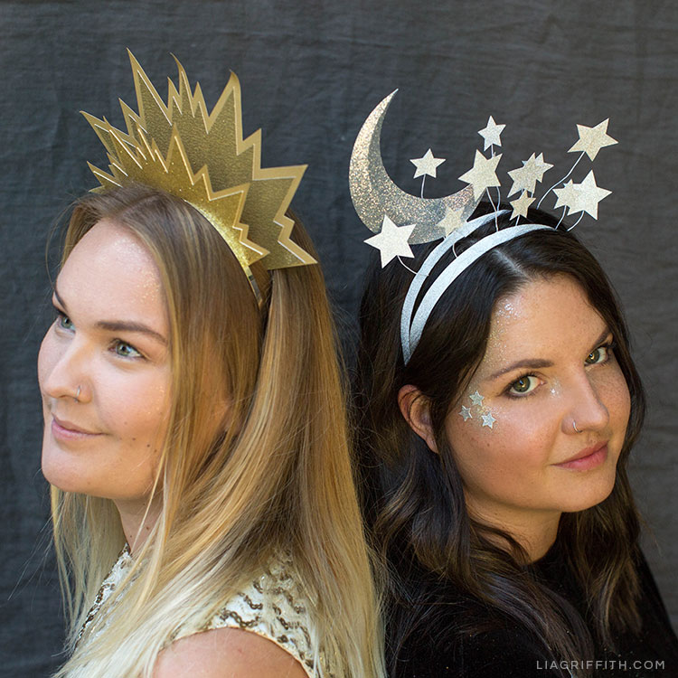 Diy Christmas In July Outfit.Diy Sun And Moon Headbands For Halloween Lia Griffith