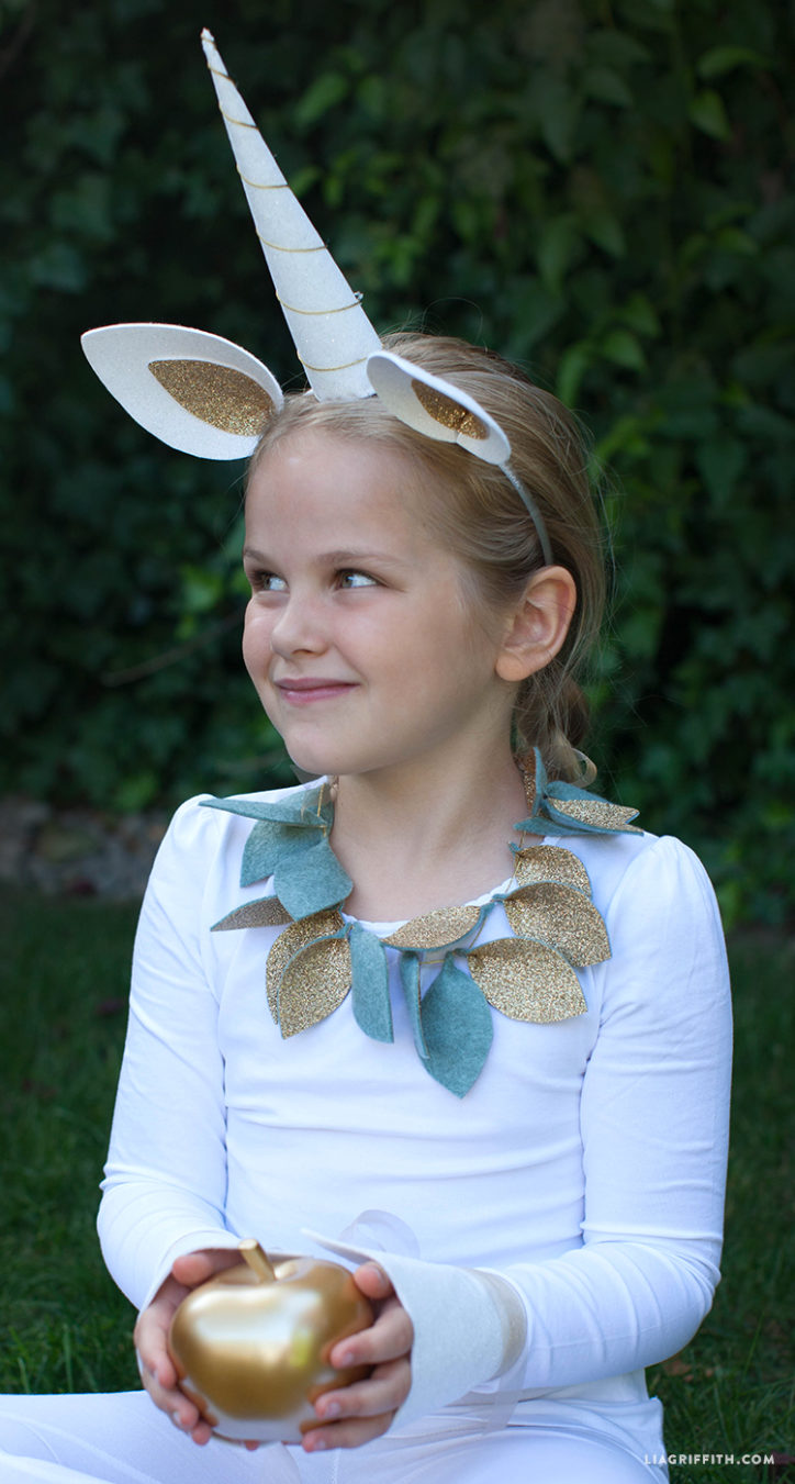 Kid's diy unicorn costume