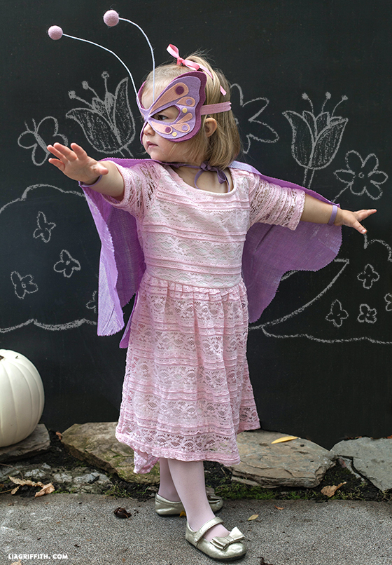 kid's DIY butterfly costume