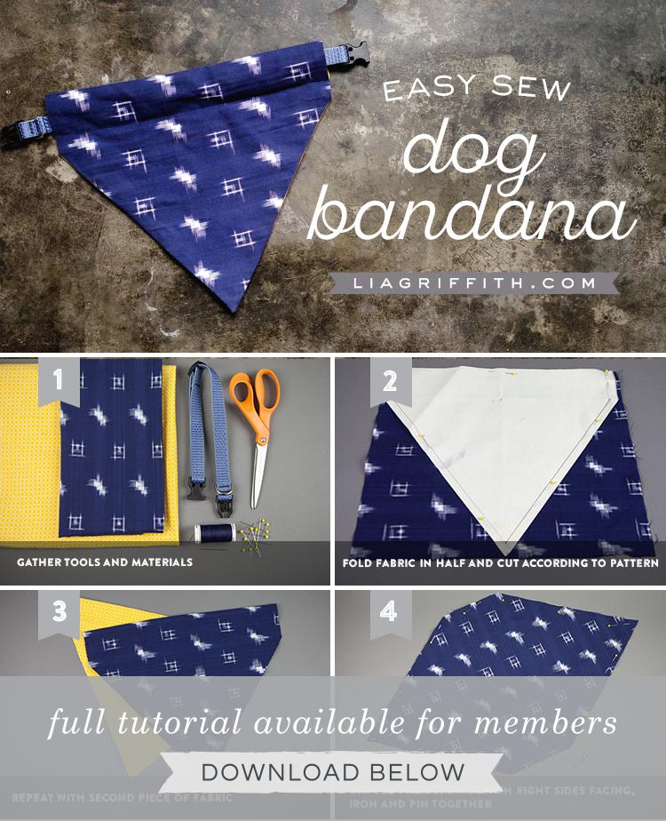 Make An Easy Diy Dog Bandana