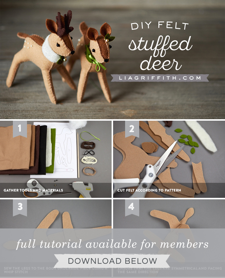photograph relating to Free Printable Felt Craft Patterns called Do-it-yourself Felt Reindeer Template Sewing Guidebook Felt Crafts